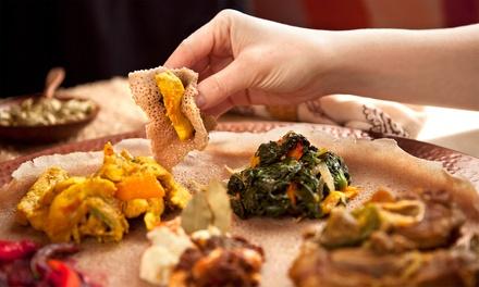 Menu éthiopien en 3 services pour 2 ou 4 personnes au restaurant le Kokob à 39,99 € à Bruxelles