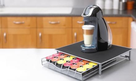 Support de machine à café et Range capsules 1 tiroir pour Dolce Gusto & Nespresso